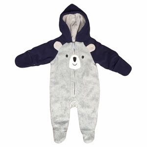 Old Navy Fleece Footed Baby Bear Outdoor Suit 0-3m